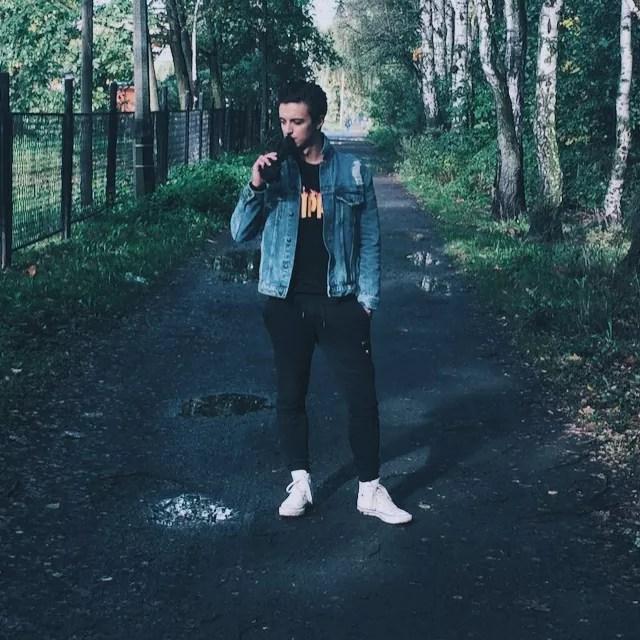 LOOKBOOK #1: Kurtka jeansowa, katana męska + bluza w stylu Thrasher