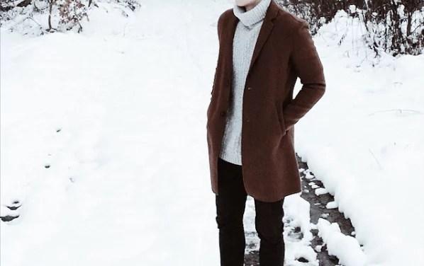 LOOKBOOK #2: Wełniany płaszcz męski + sweter z golfem