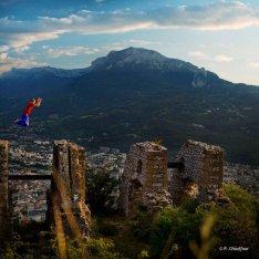 Un bien joli décor pour cette photo du haut de la Bastille de Grenoble. Photo de Pierre Chauffour.