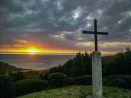 Magnifique coucher de soleil sur la côte Basque au détour d'un spectacle