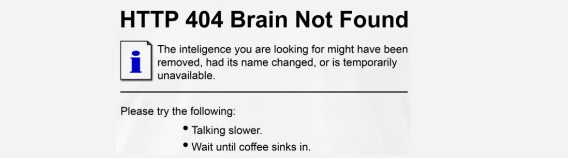 404 Brain not found