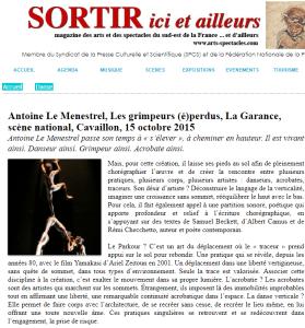 Les grimpeurs (é)perdus, Octobre 2015, Cavaillon (la Garance)
