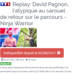 Ninja Warrior, Juillet 2017, Programme TV, Cannes