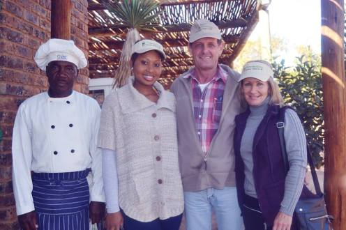 Tranquillity Spa and Lodge Raymond Justin Scott and Beth Scott — with Faith Vutomi Nxumalo.