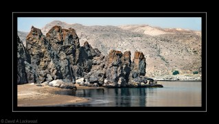 Beach rock formations