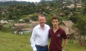 At Um Pieum Karen Refugee Camp with James Alton