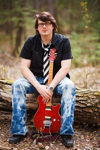 David Andrew Wiebe in the forest