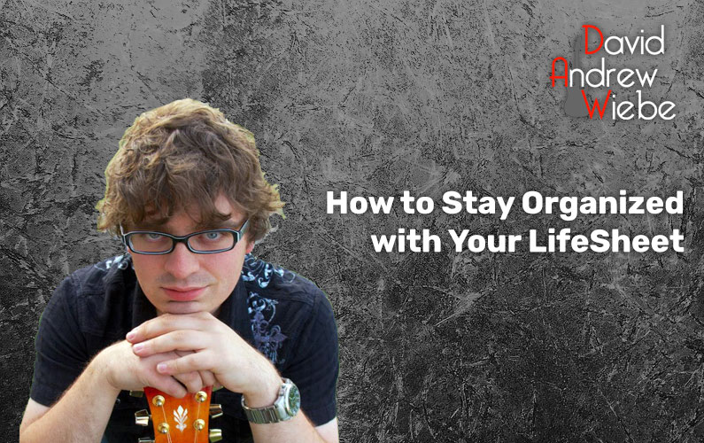 How to Stay Organized with Your LifeSheet