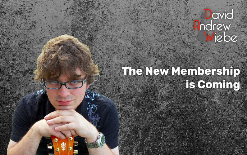 The New Membership is Coming