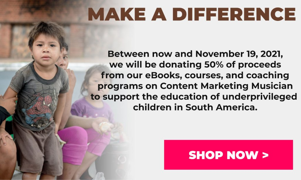 Make a difference: Content Marketing Musician