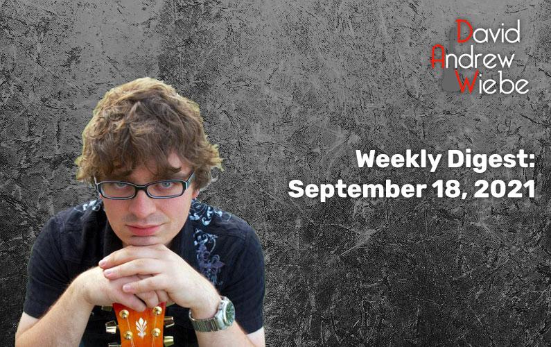 Weekly Digest: September 18, 2021