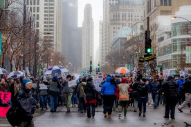 Protesting Along The Magnificent Mile