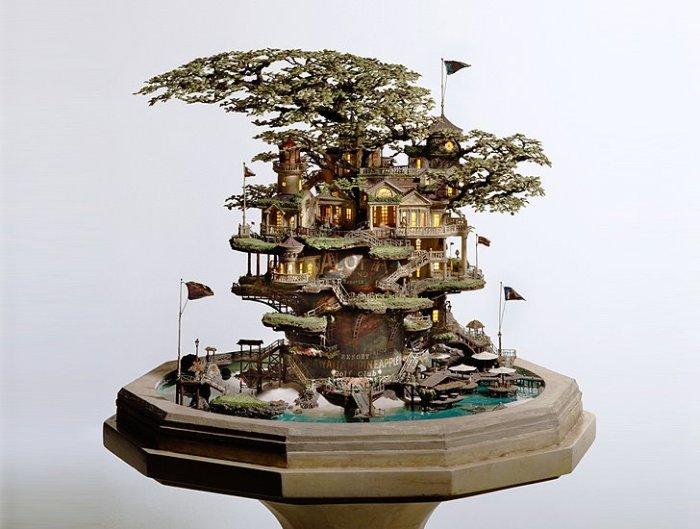 O artista japonês Takanori Aiba e sua ultra criatividade ao criar cenários em bonsai com referências da natureza, urbanismo e também da cultura pop. (Acesse: tokyogoodidea.com)