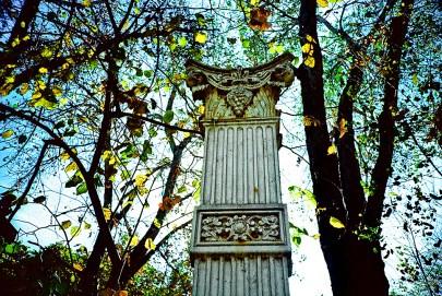 Column, Pioneer Park, Sacramento. (Kodak EliteChrome 100 EB3 film, process C-41).
