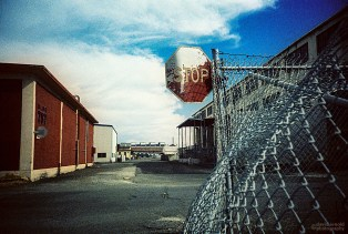 Stop Sign, Mare Island Naval Shipyard, Vallejo, Ca. (Kodak Ektachrome 64 Tungsten film, process C-41.)