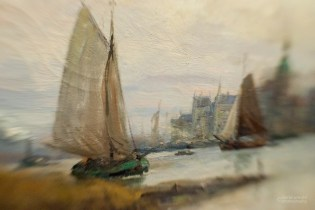 Borrowed Source: Sail Boat Detail, Paul Blondeau, (French, Active, 1890-1910), Dordrecht Harbor, 1890, Crocker Art Museum.