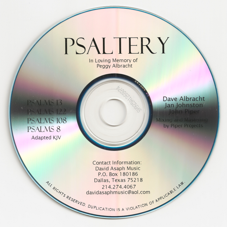 Psaltery disk cover