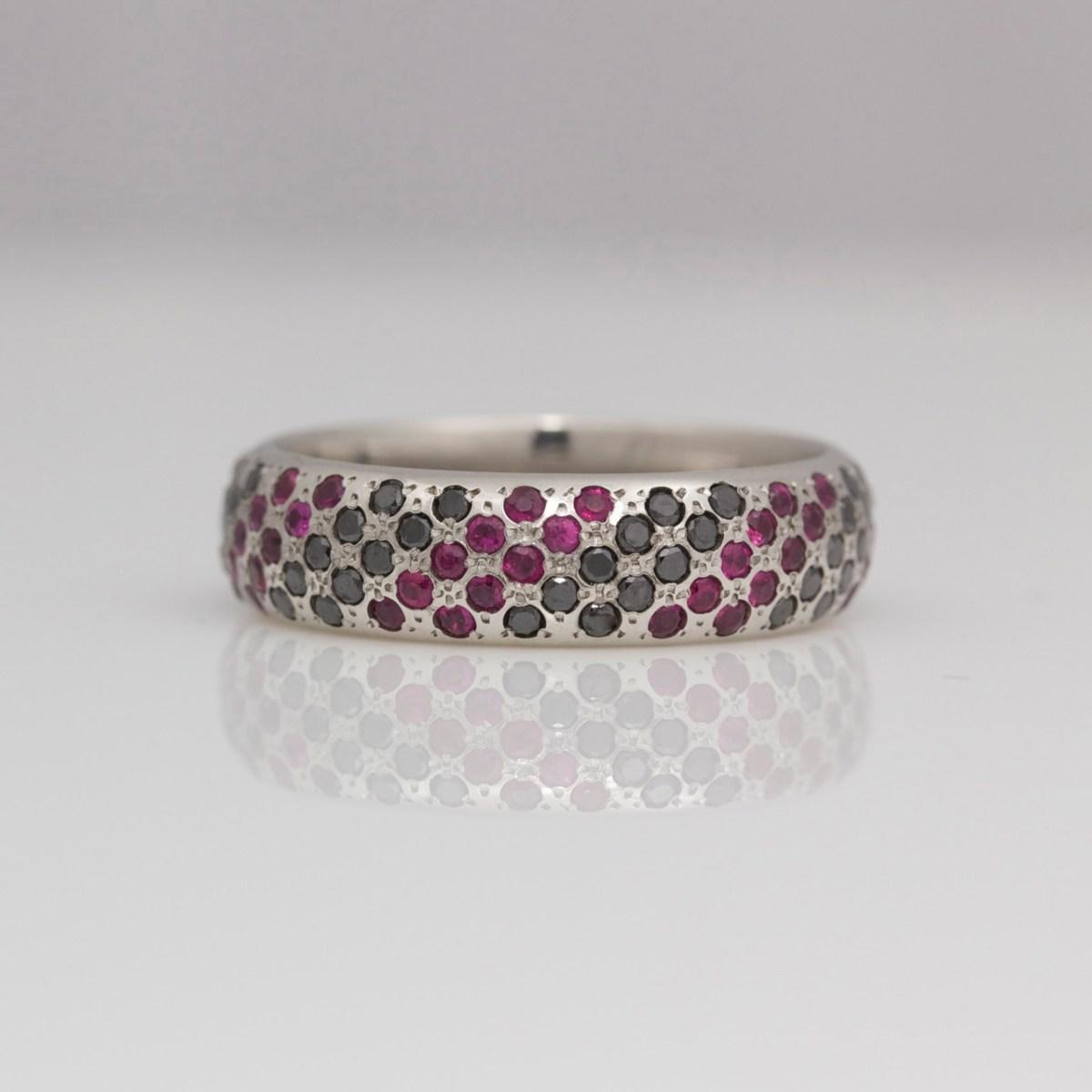 rubies black diamonds pav 233 set in platinum ring david