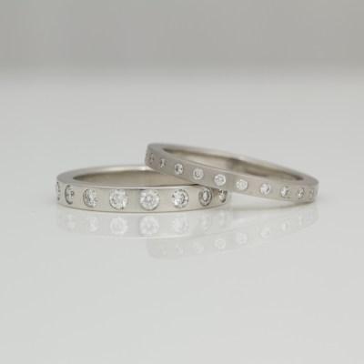 modern eternity ring platinum diamond