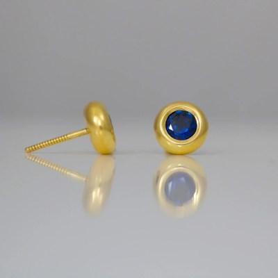 perfect modern sapphire ear-studs