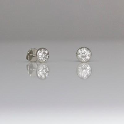 Contemporary diamond ear-studs