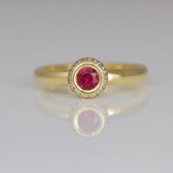 Contemporary ruby diamond ring