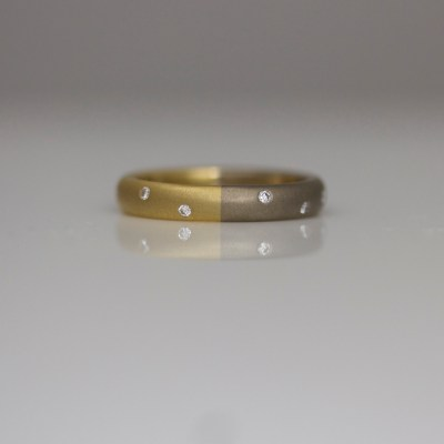 contemporary diamond wedding eternity ring