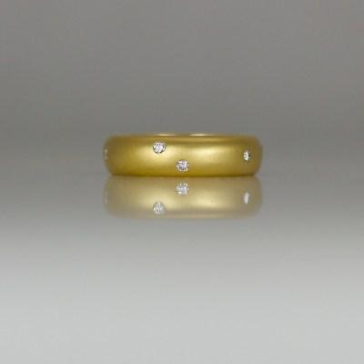 Contemporary diamond eternity rings