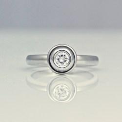 contemporary platinum engagement ring