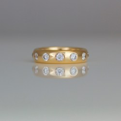 Contemporary rose gold eternity ring