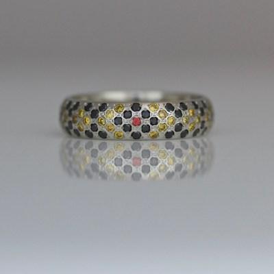snake pattern diamond ring