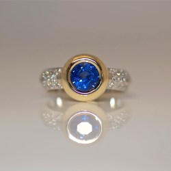 modern sapphire diamond engagement ring