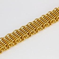 Contemporary hand-made 18ct gold bracelet