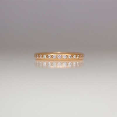rose gold pave set diamond ring