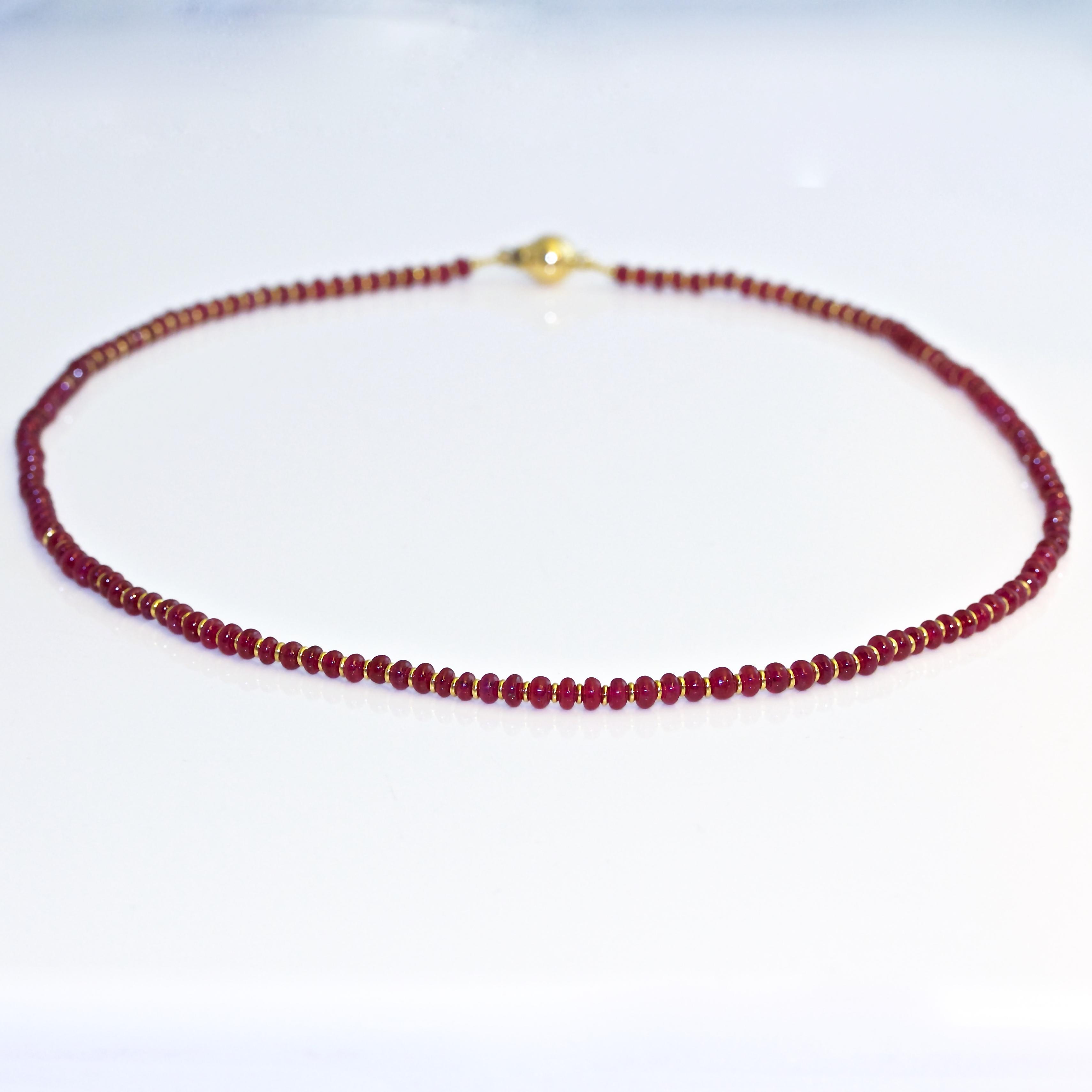 Ruby 18ct Gold Necklace David Ashton Contemporary Fine Jewellery