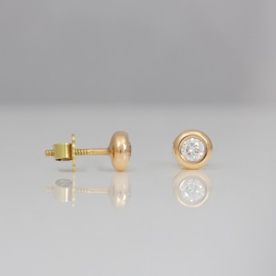 modern rose gold diamond ear-studs