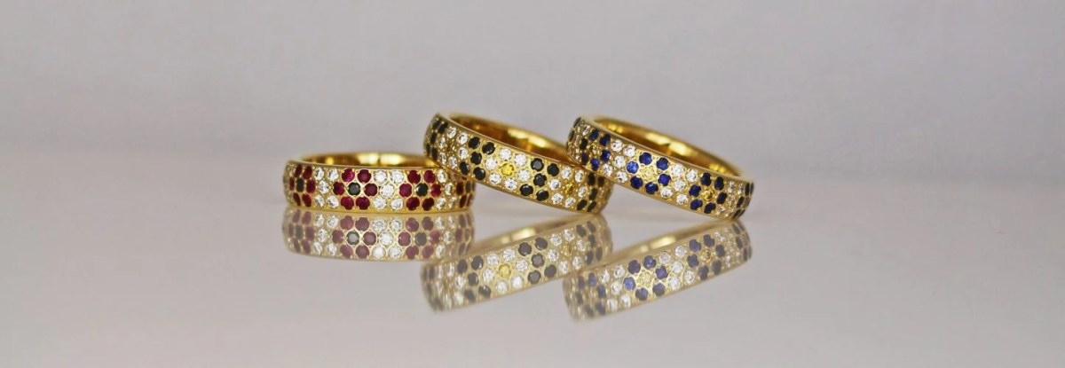 contemporary eternity rings