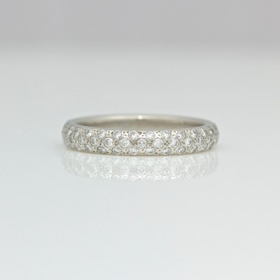pave set platinum ring