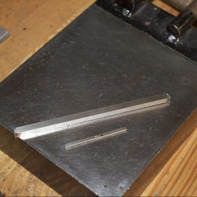 6mm square rod and 3.3 mm D band made from it.