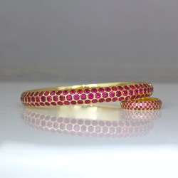 Burmese ruby bangle