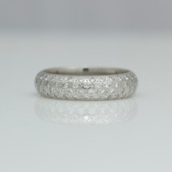 Chunky pave set platinum ring
