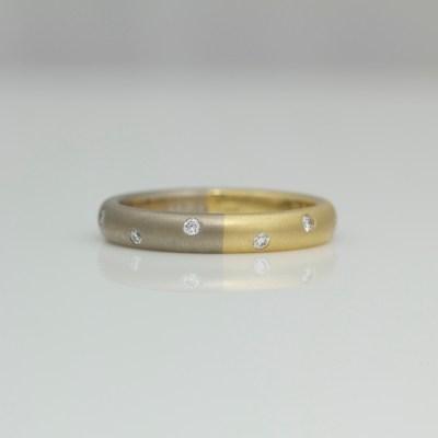modern diamond set ring