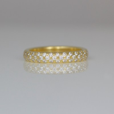 Modern diamond eternity ring