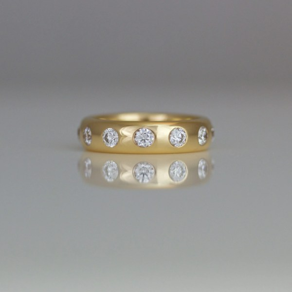 Rose gold eternity ring 0882 David Ashton