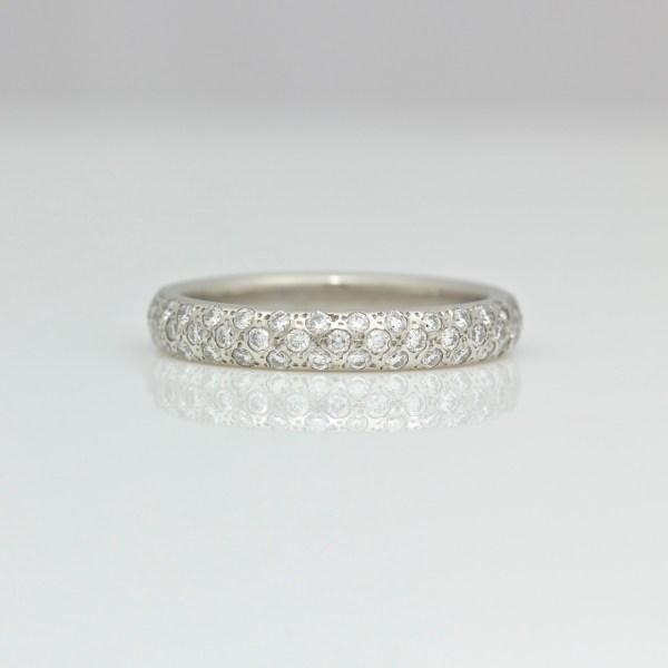 pave set platinum ring