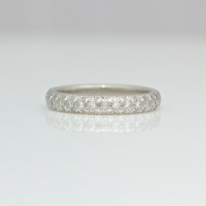 pave set platinum ring 0981