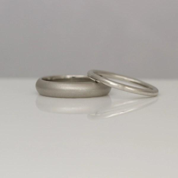 Platinum handmade wedding rings
