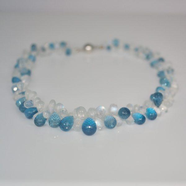 Topaz & moonstone necklace