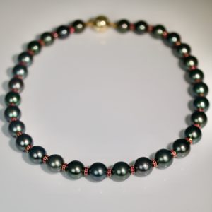 ruby and Tahitian pearl ruby necklace