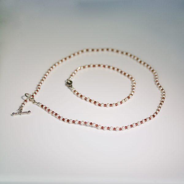 Garnet & pearl set